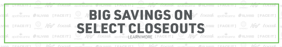 Web Banner: Big Savings on Select Closeouts
