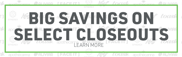 Web Banner: Big Savings on Select Closeouts.