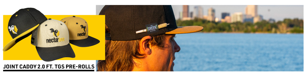 image gallery of people wearing the alpine x nectarbee hemp hats