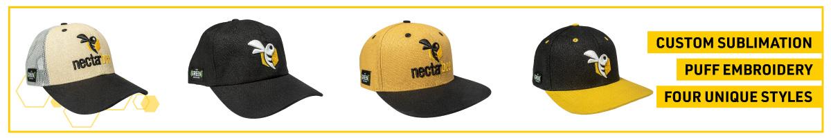 nectarbee hat featuring alpine hemp's joint holder 2.0