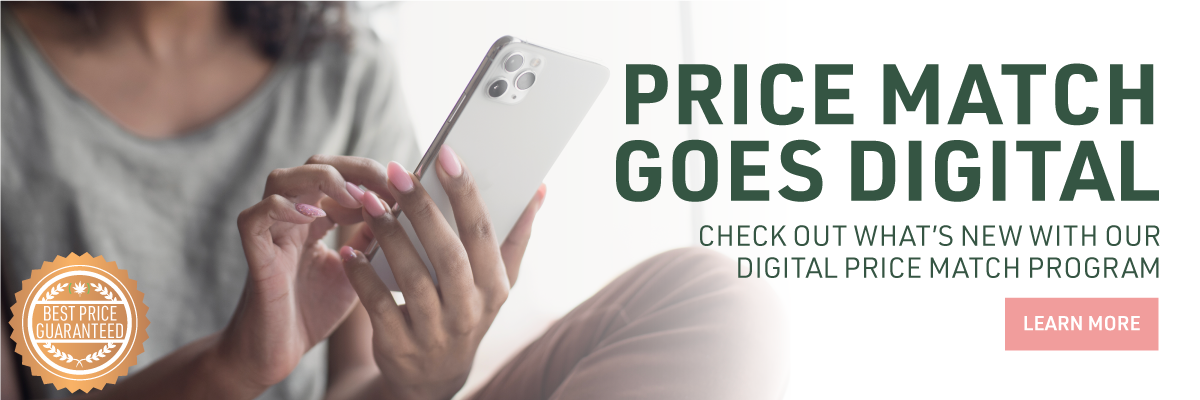 web banner: price match goes digital. click to check out what is new!