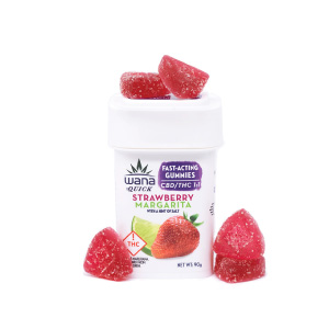 product photo of wana fast acting strawberry gummies