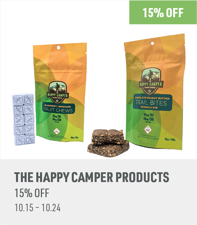 15% off The Happy Camper products